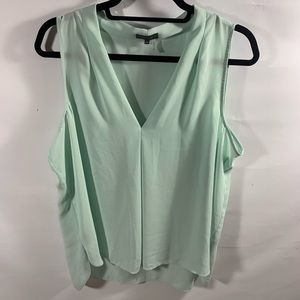 Vince Camuto | Mint Flowy Sleeveless Top | Sz XL